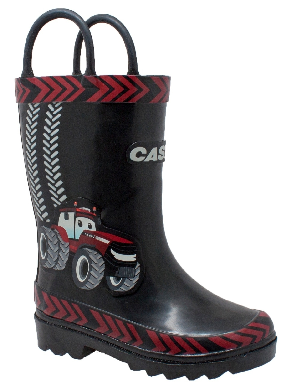"Case IH Children's 3D ""Big Red"" Rubber Boot Black"