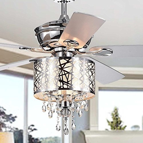 Garvey 5-blade 52-inch Chrome Ceiling Fan With 3-Light