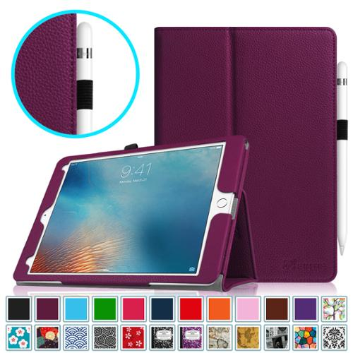 Fintie Apple iPad Pro 9.7 2016 Case - Vegan Leather Stand Cover with Auto Sleep / Wake Feature, Purple
