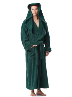f1762b751a4c8 Product Image Men's Luxury Medieval Monk Robe Style Full Length Hooded  Turkish Terry Cloth Bathrobe