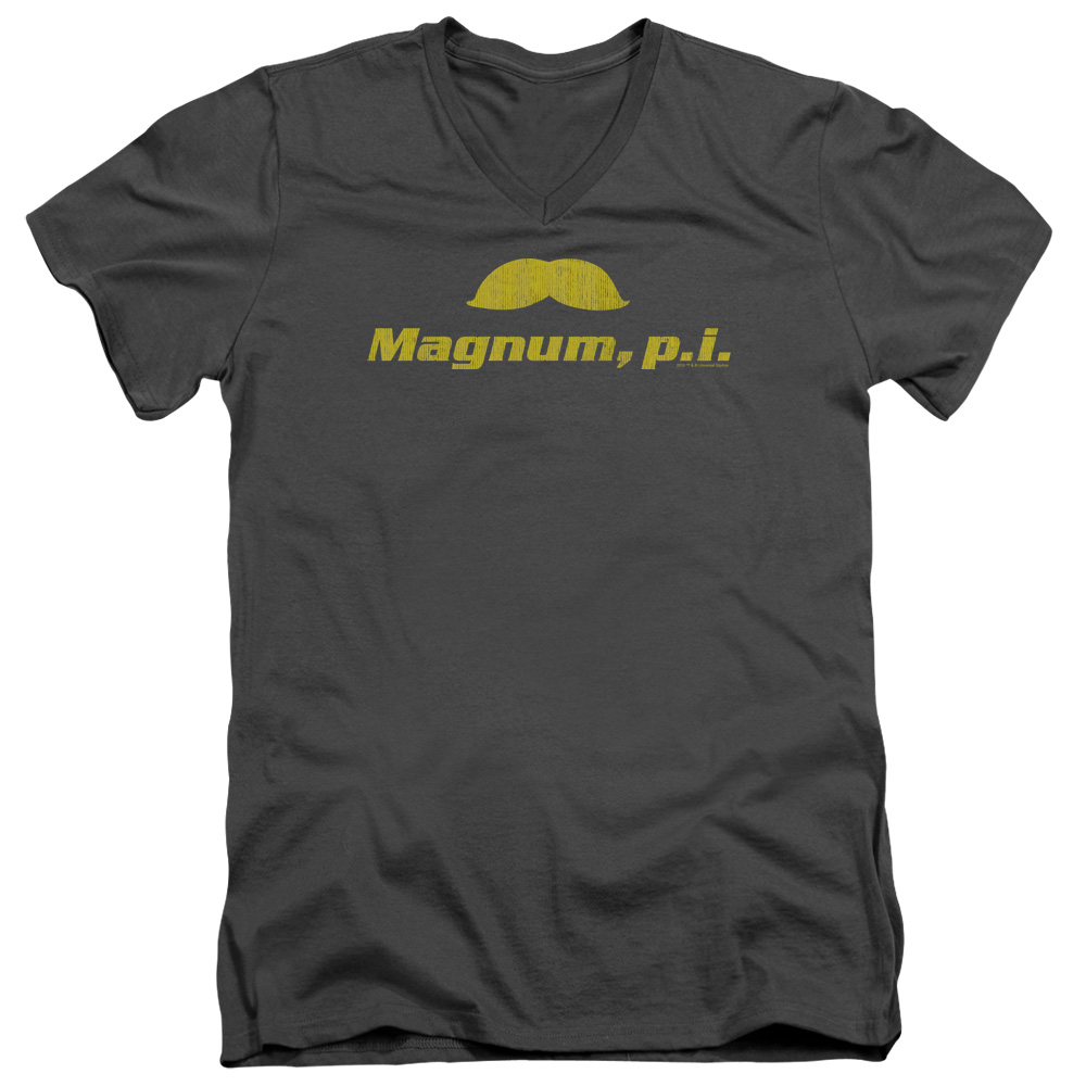 Magnum PI The Stache Mens V-Neck Shirt
