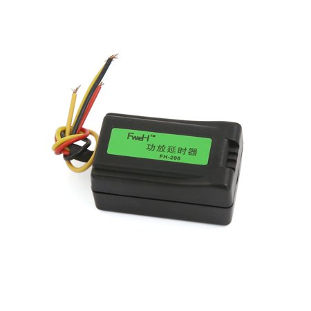 Father' s Day Gift l Unique Bargains Black Plastic Casing 4 Wiring Vehicle Car Stereo Audio Amplifier Time