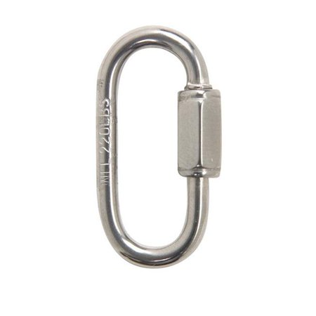Campbell Chain Polished Stainless Steel Quick Link 220 lb 1 3 8 in L C