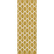 Alexander Home Palm Citron/ Ivory Geometric Rug (1'8 x 5')
