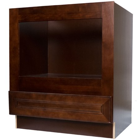 Everyday cabinets 33 inch cherry mahogany brown leo saddle for Cherry mahogany kitchen cabinets