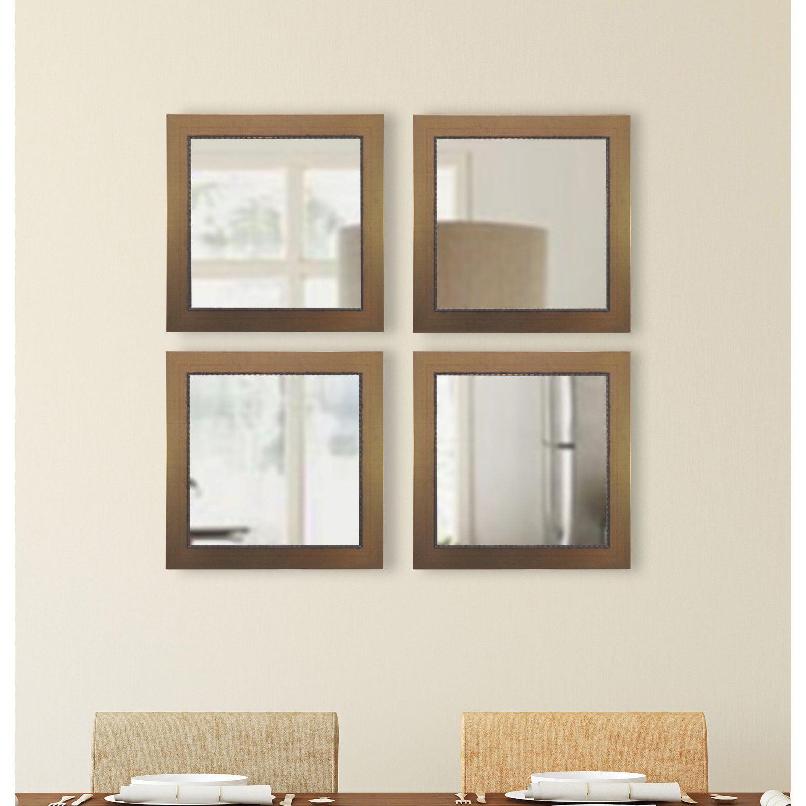 Rayne Mirrors Lowe Square Wall Mirror - Set of 4