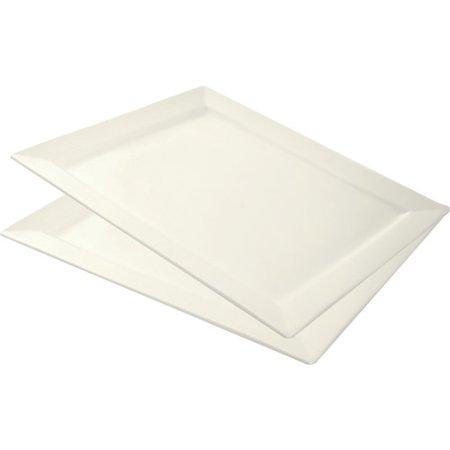 10 Strawberry Street Whittier 17  X 15  Rectangle Platters  Set Of 2  White