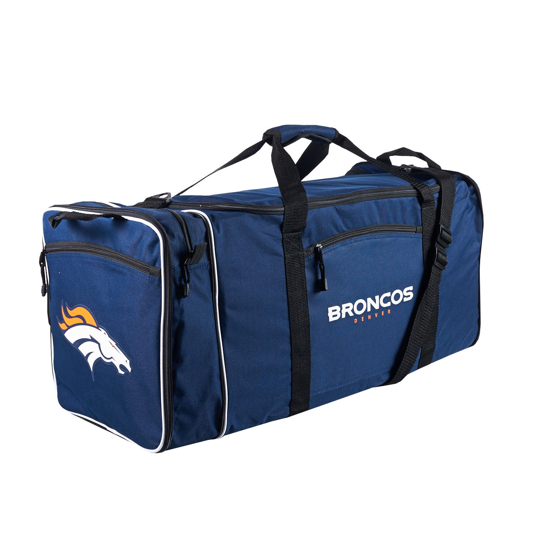 "NFL Denver Broncos ""Steal"" 12""H x 28""L x 11"" W Duffel Bag"