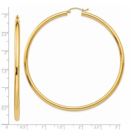 14K Yellow Gold Hoop Earrings - image 1 de 3