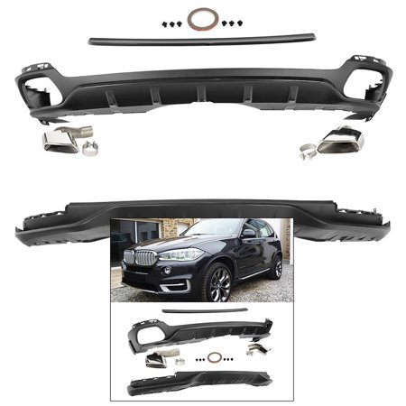 Dtm Spoiler - Front Rear Lip Kit for 2014-2018 BMW X5 Non-sport Roof Spoiler Splitter Air Dam