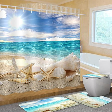 16pcs Hotel Bathroom Sets Beach Polyester Bathroom Shower