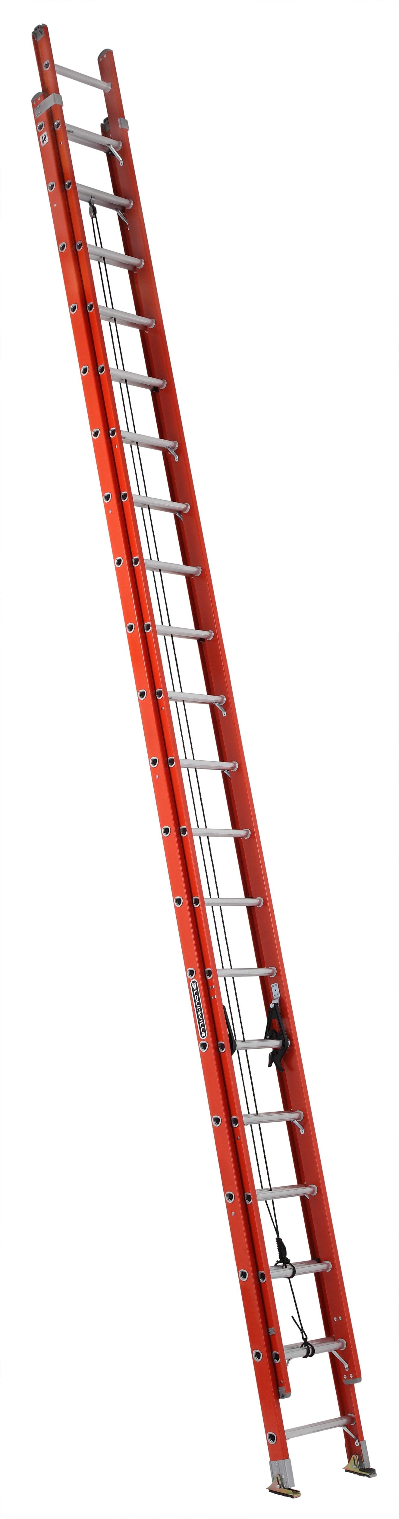 """Louisville Ladder FE3240 40 ft. Fiberglass """"D"""" Rung Extension Ladder, Type IA,... by Louisville Ladder"""