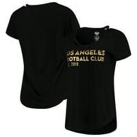 LAFC Concepts Sport Women's Squad Cut Neck T-Shirt - Black
