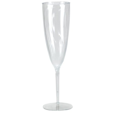 Lillian Dinnerware, Plastic Champagne Flute, Clear, 6 Oz, 8 Ct](Bridesmaid Champagne Flutes)