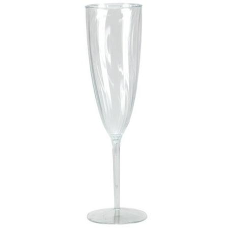 Lillian Dinnerware, Champagne Flute, Clear, 6 Oz, 8 Ct