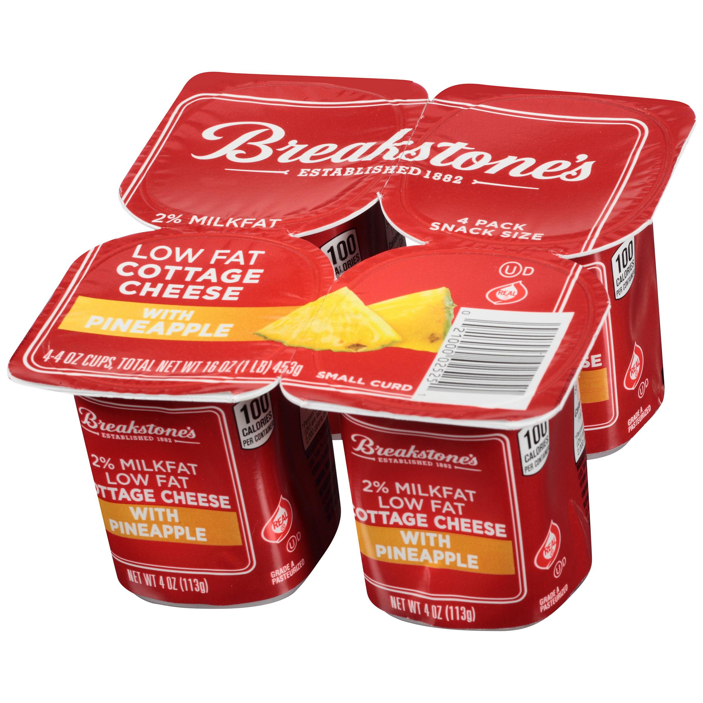 breakstones 100 calorie lowfat pineapple cottage cheese 4 oz 4