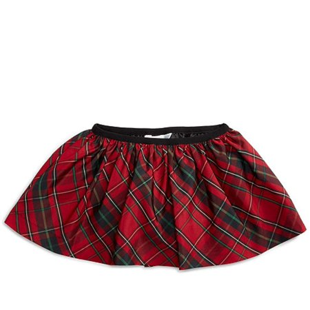 Ralph Lauren Baby Girls Plaid Pull-On Skirt, Red Plaid, Size 3 Months