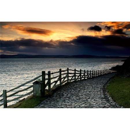 Posterazzi DPI1826222 Path Along The Water Holy Island Berwick Northumberland England Poster Print by John Short, 17 x 11 - image 1 de 1