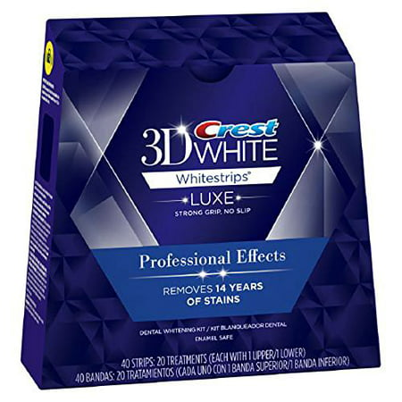 Crest 3D White Whitestrips With Advanced Seal Professional Effects Enamel Safe Dental Whitening Kit, 20