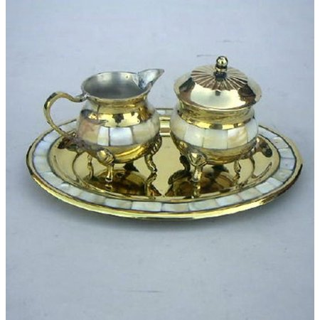 Mother Of Pearl Brass (India Overseas Trading BR40421 - Solid Brass Mother of Pearl set)