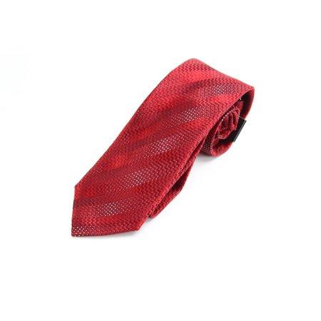 Sean John Herringbone Striped Men's Slim Neck Tie Silk Accessory