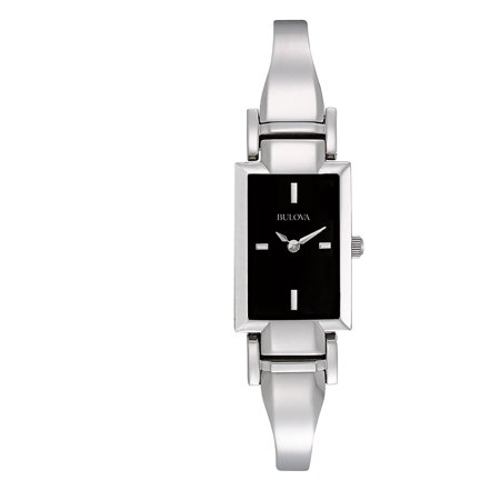 Bulova Women's Stainless Steel Bangle Watch 96L138 Bulova Bangle Steel Ladies Watch