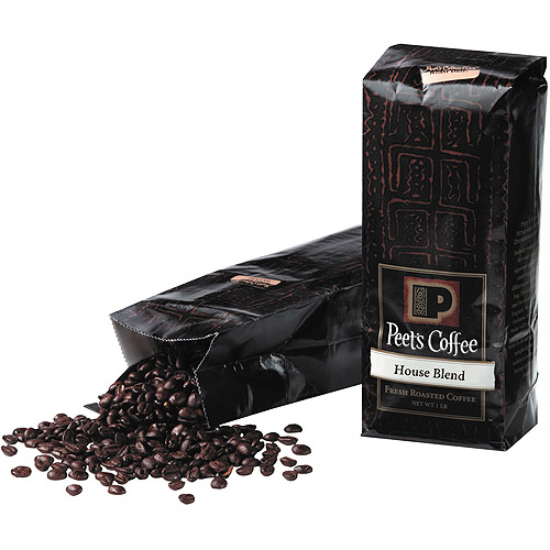 Peet's Coffee House Blend Fresh Roasted Whole Bean Coffee, 1lb
