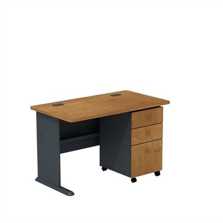 "Scranton & Co 48"" Desk and File Cabinet in Natural Cherry - image 1 de 1"