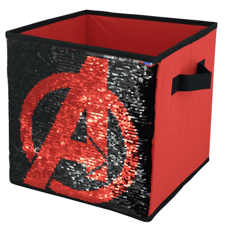 Avengers Reversible Sequin Storage Cube (Avengers Decor)