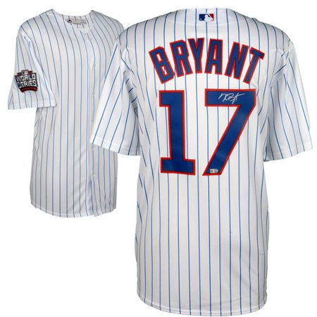 - Kris Bryant Chicago Cubs 2016 MLB World Series Champions Autographed Majestic White Replica World Series Jersey