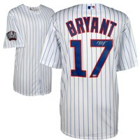8fc296edf7e Product Image Kris Bryant Chicago Cubs 2016 MLB World Series Champions  Autographed Majestic White Replica World Series Jersey