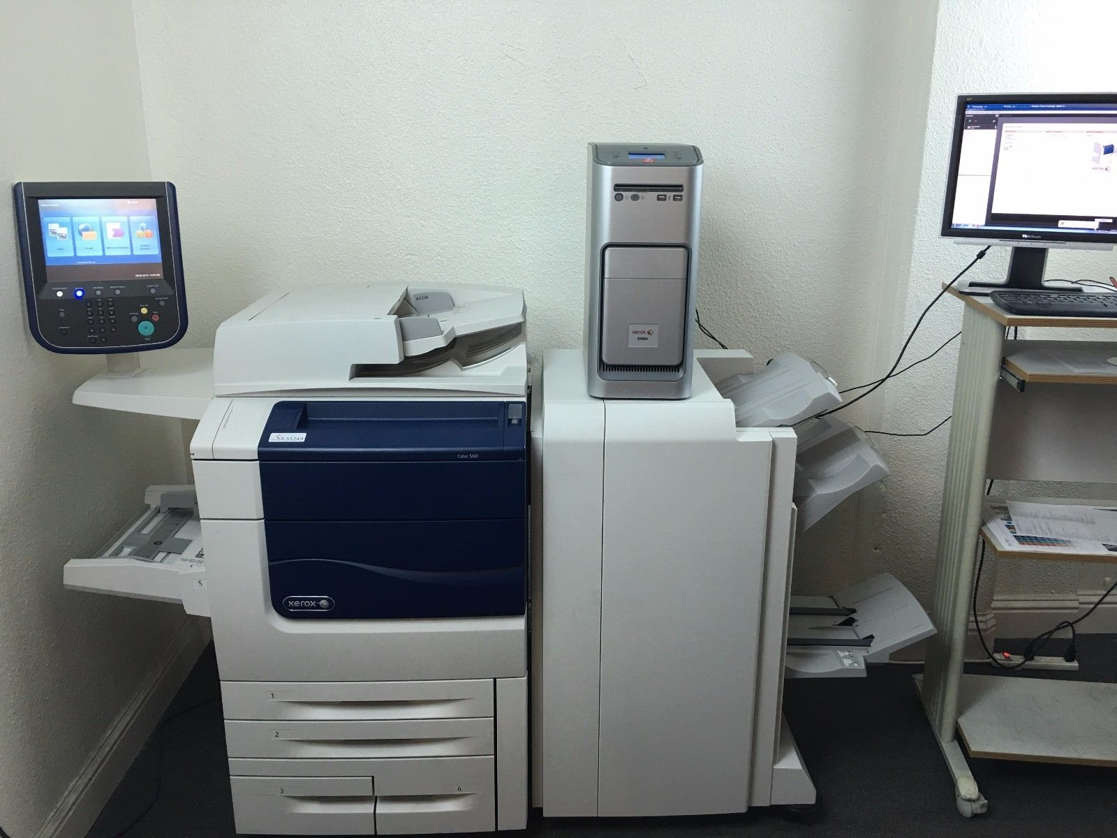 Xerox Color 560 Copier Printer Scanner with EX560 & Booklet Stitch finisher 266k by Xerox