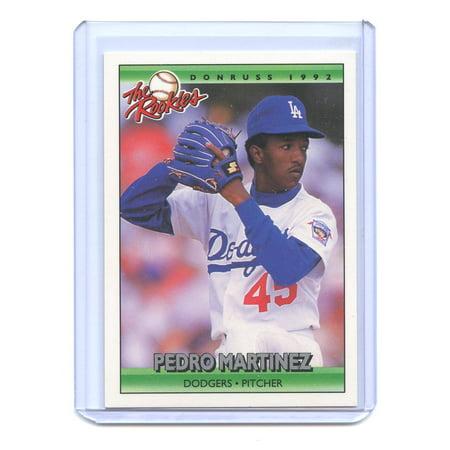 1992 Donruss Rookies 69 Pedro Martinez Los Angeles Dodgers Rookie Card