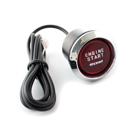 Universal Car Engine Start Push Button Switch Ignition Starter Kit Red LED 12V
