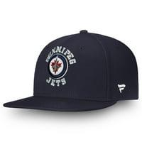 Winnipeg Jets Fanatics Branded Youth Emblem Snapback Adjustable Hat - Navy - OSFA