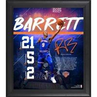 "R.J. Barrett New York Knicks Framed 15"" x 17"" NBA Debut Collage"