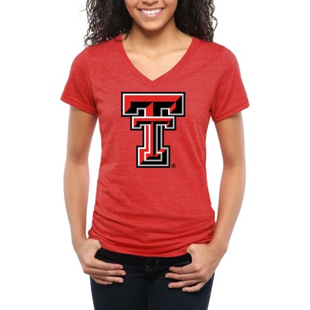 - Texas Tech Red Raiders Women's Classic Primary Tri-Blend V-Neck T-Shirt - Red