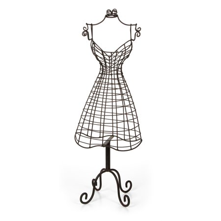 Jewlery Display: Metal Dress Form, 21 inches