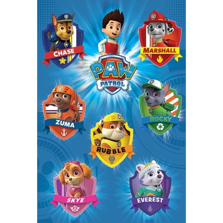 Paw Patrol - TV Show Poster / Print (Character Crests / Badges) (Size: 24