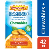Emergen-C Immune+ Chewables (42 Ct, Orange Blast) with Vitamin C