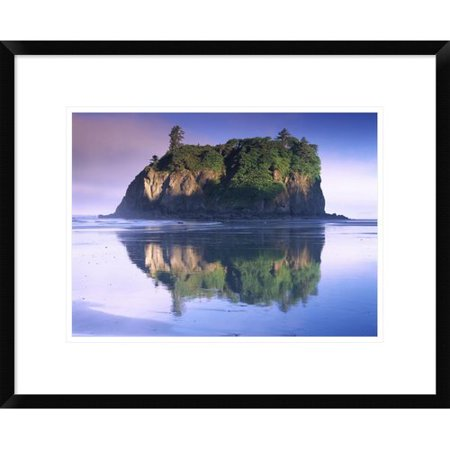 Global Gallery Abbey Island Looms Over Ruby Beach  Olympic National Park  Washington By Tim Fitzharris Framed Photographic Print
