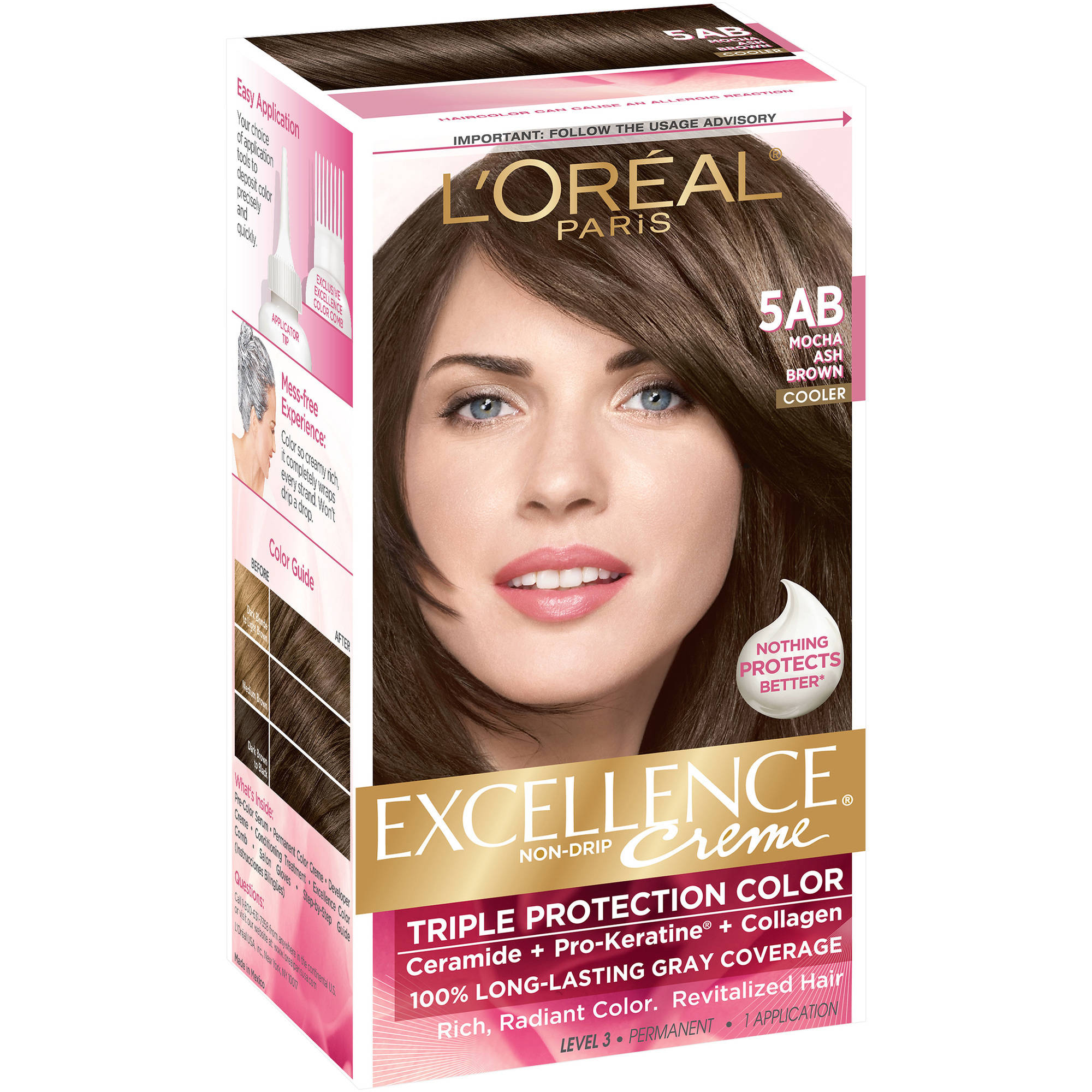 Loreal Paris Excellence Creme Hair Color 5ab Mocha Ash Brown 1