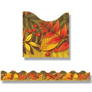 Trend Enterprises T-92337 Leaves Of Autumn Trimmers Scalloped- Edge 12 per Pack 2.25 X 39 Total