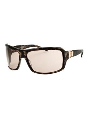 Shield Sunglasses: Marble Gold/Brown
