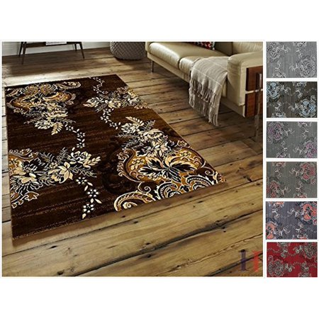 Handcraft Rugs - Chocolate Brown/Beige/Mocha/Ivory/Abstract Area Rug Modern Contemporary Flower-patterned Design