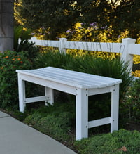 Shine Company 4 Ft. Backless Garden Bench - White