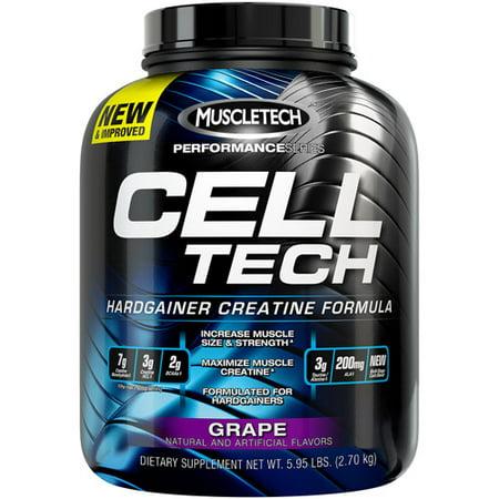 MuscleTech Cell Tech Hardgainer Creatine Powder, Orange, 55