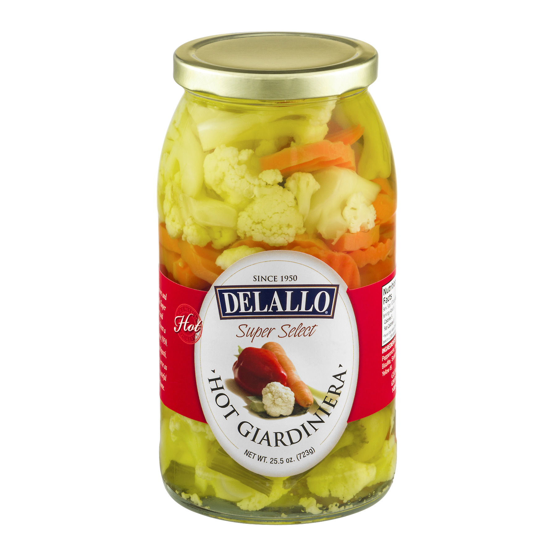 DeLallo Hot Giardiniera, 25.5 oz