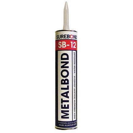 Surebond SB-12 10.3 oz Metal Bond Sealant, Gray
