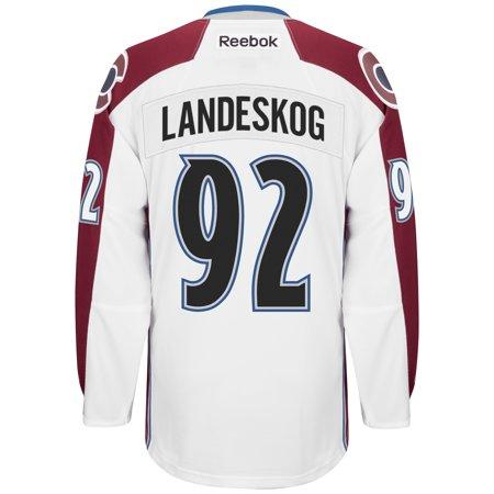Gabriel Landeskog Colorado Avalanche Reebok Premier Away Player Jersey (White) XL by
